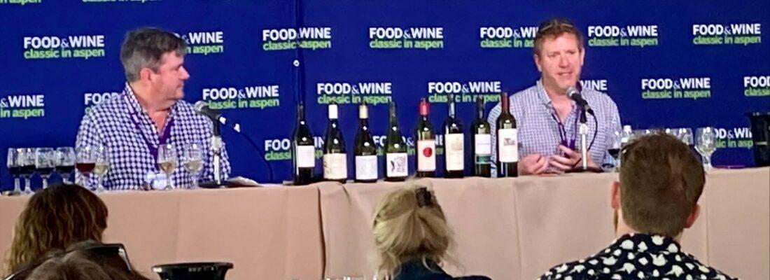 Jason Haas and Ray Isle at Aspen Food Wine 2021