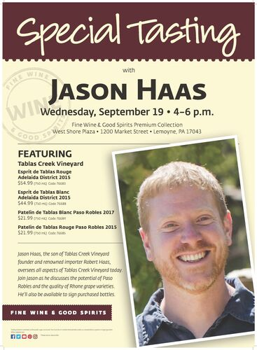 Special Tasting Jason Haas 18X24 08 18