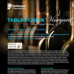 Parkinsons Foundation Tasting Nov 2021