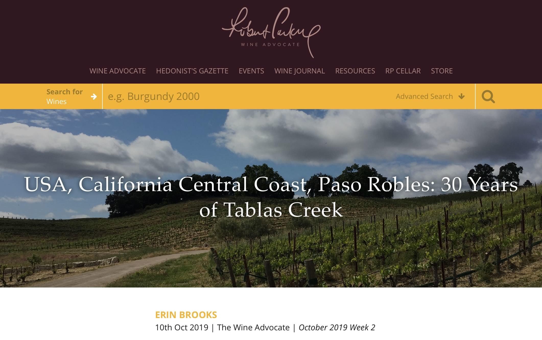 Wine Advocate Oct 2019