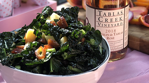 Image of Raw Kale Salad with Champagne Vinaigrette