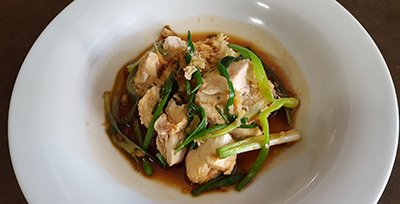 Image of Asian Chicken with Ginger and Scallion Sauce